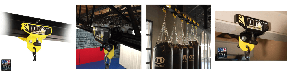 Promountings roller i-beam punch bag mounts