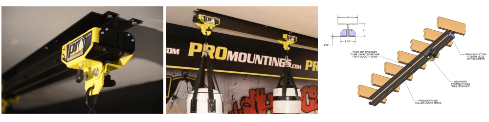 Promountings roller mount track