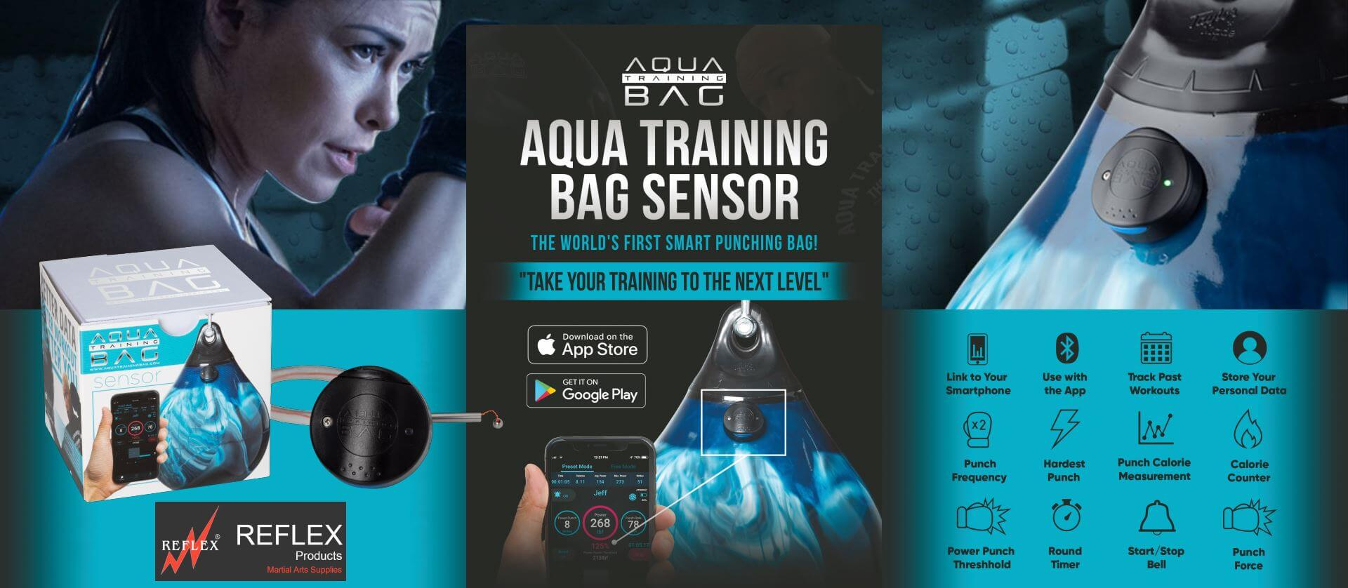 Punch bag sensor for Aqua Training Bags